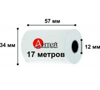 Лента чековая термочувствительная 57х12мм, 17 метров